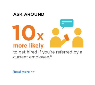 Ask around - you're 10 times more likely to get hired if you're referred